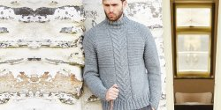Мужской свитер реглан спицами с описанием