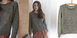 Пуловер регланом сверху спицами для женщин с описанием