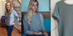 Пуловер резинкой спицами для женщин