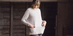 Свободный пуловер модный описание и выкройка