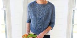 Женский пуловер схема вязания спицами