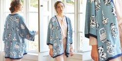 Кардиган кимоно спицами с описанием и схемами