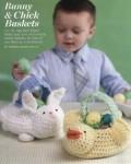 Вязание к Пасхе корзиночек Bunny & Chick
