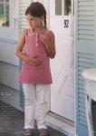 Вязание для девочек топа Peter pan