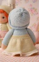 Вязать куклу из качественной пряжи, чтобы она была прочная в пользовании