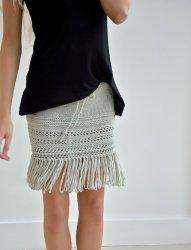 Вязаная юбка из толстой пряжи