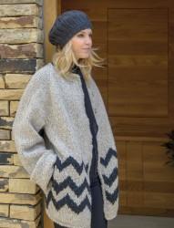 Осеннее вязаное <strong>резинками</strong> пальто Cedar от дизайнера Ким Харгрейвз