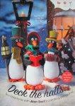 Вязаные новогодние игрушки спицами - пингвины