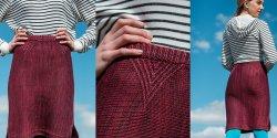 Вязаная юбка с разрезами