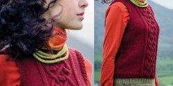 Короткий жилет спицами для женщин с описанием и фото