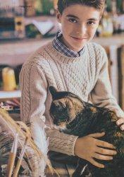 Вязание для мальчиков пуловера с косами описание и схемы