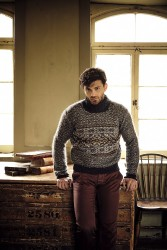 Жаккардовый мужской свитер Lindisfarne