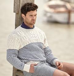 Мужской пуловер из хлопка
