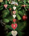 Новогодние сердечки спицами