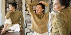 Пуловер гернси спицами
