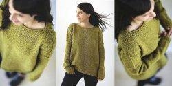 Простой пуловер спицами описание