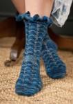Вязание носков спицами Alda