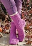 Вязание носков Leafy socks