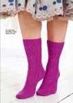 Вязание носков спицами Heliotrope