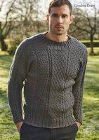 Вязание мужчинам пуловера спицами в стиле Гернси