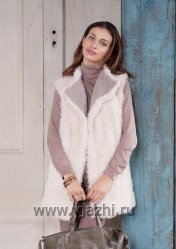 Меховая жилетка из Vogue зима 2015-2016