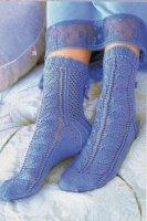 Кружевные носки спицами с описанием и схемами