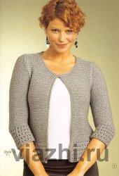Вязание спицами для женщин модного жакета с описанием
