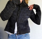 Mixed Cardigan by Judy Brien