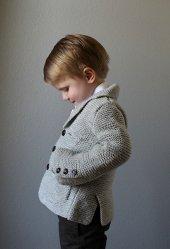 Жакет спицами для маленького мальчика