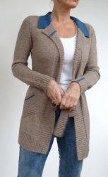 Вязание спицами для женщин модного жакета 2016 года с описанием от дизайнера