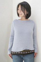 Пуловер спицами с двухслойным эффектом