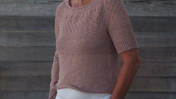 Пуловер с длинный или коротким рукавом