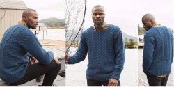 Мужской пуловер спицами фото и описание