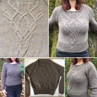 Deer Skull Cable Sweater2