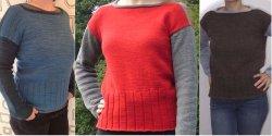 Пуловер вязаный сверху