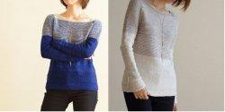 Вязаный женский пуловер спицами