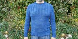 Мужской свитер резинкой спицами с описанием