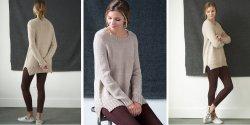 Пуловер с боковыми разрезами