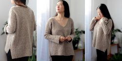 Пуловер резинкой