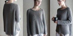 Пуловер регланом