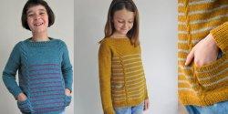 Детский пуловер спицами фото и описание