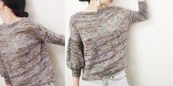 Пуловер с рукавом баллон
