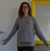 Пуловер реглан фасона бокси