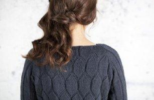 Пуловер бокси сотами фото