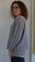 Рукава пуловера резинкой спицами