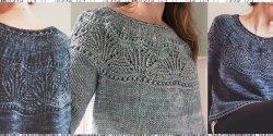 Пуловер без швов с круглой кокеткой