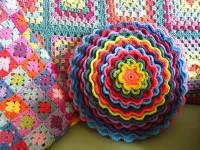 Вязание подушки цветка