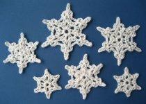 Вязание снежинок крючком Snowflakes