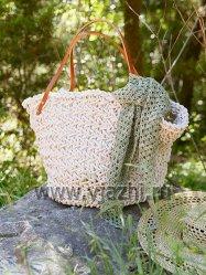 Пляжная сумка из толстой пряжи