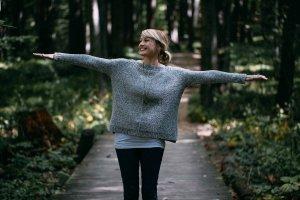 Свободный меланжевый свитер
